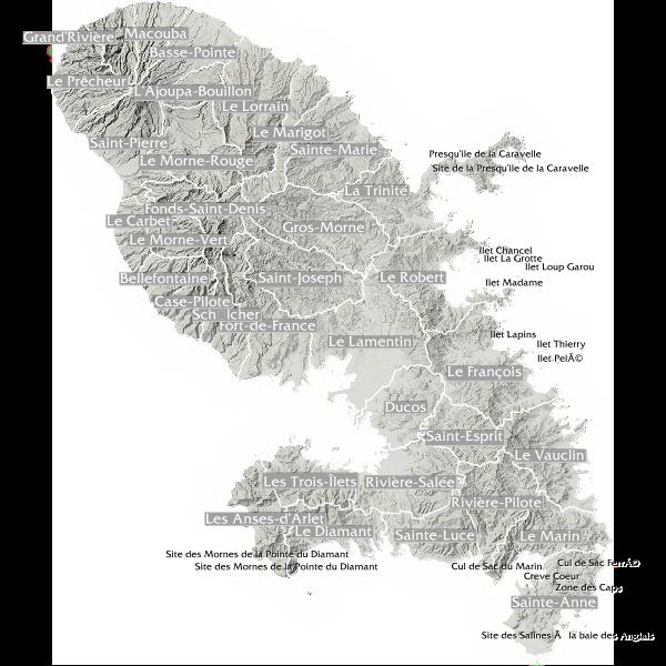 Principales données de GéoMartinique