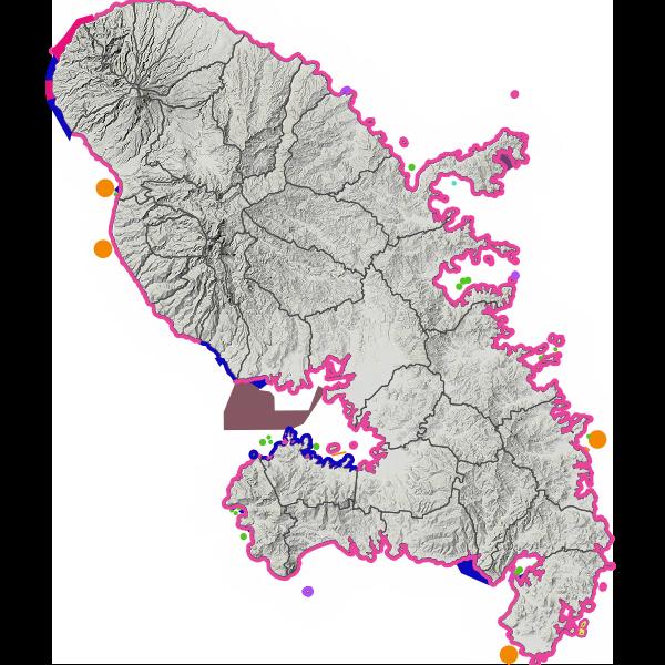 Zones réglementant les usages en mer en Martinique