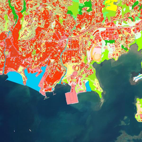 Carte interactive Occupation du sol en Martinique en 2017